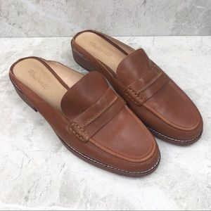 Madewell The Elinor Brown Loafer Mule